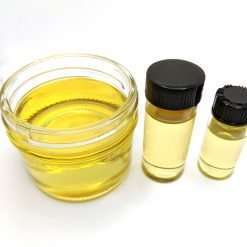 Delta-8 Distillate see-thru in a small jar and vials