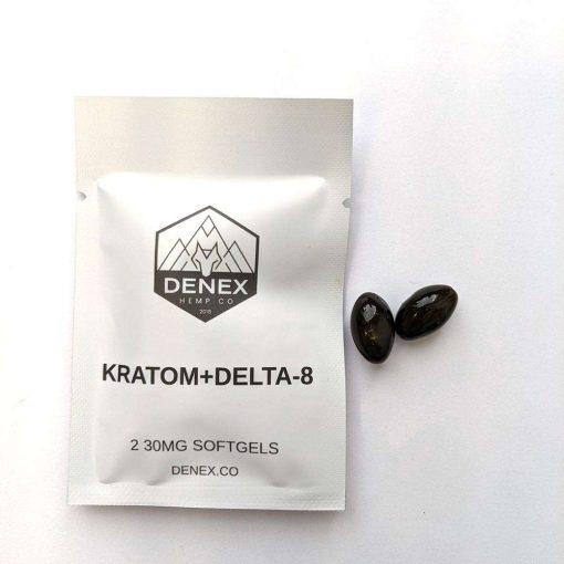 kratom+Delta-8 softgels pack